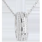 cadeau dames Hanger Diamanten wiel - Wit Goud - 0.27 karaat