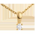 Hanger Geel Goud Diamant ram - 0.16 karaat