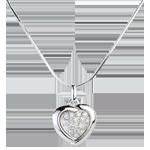 huwelijk Hanger Wit Goud Sweet Heart - 18 Diamanten - 0.2 karaat