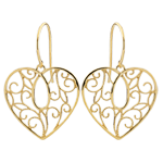 gift woman Heart-shaped Arabesques Earrings