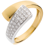 gift women Hemisphere ring yellow gold paved - 0.26 carat - 34diamonds