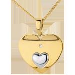 Online Verkauf Herzanhänger Einigkeit in Gelbgold