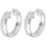 buy on line Hoops white gold inlaid diamonds - 0.33 carat - 22 diamonds