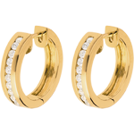 gift woman Hoops yellow gold inlaid diamonds - 0.33 carat - 22 diamonds