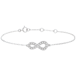 wedding Infinity bracelet - White gold and diamonds - 9 carats