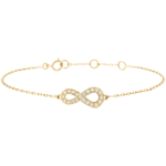 Infinity bracelet - Yellow gold and diamonds - 9 carats
