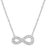 women Infinity necklace - white gold and diamonds
