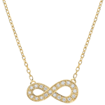 gold jewelry Infinity necklace - Yellow gold and diamonds