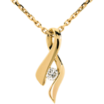Infinity pendant yellow gold diamond