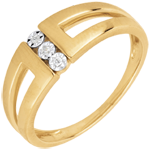 Infinity Yellow Gold and Diamond Selma Trilogy Ring