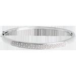 vente on line Jonc diorama barrette diamants - or blanc 18 carats - 0.25 carats - 23 diamants