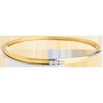 mariage Jonc trilogie bipolaire or jaune-or blanc - 0.24 carats - 3 diamants