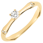 Jungle Sacrée engagement ring - 0.09 carat diamond - yellow gold 18 carats