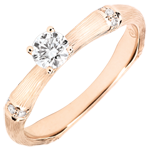 Jungle Sacrée man's engagment ring diamond 0.2 carat -brushed pink gold 9 carats