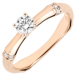 on line sell Jungle Sacrée man's engagment ring diamond 0.2 carat -pink gold 9 carats