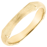 wedding Jungle Sacrée man's wedding band - 4 mm - brushed yellow gold 18 carats