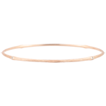Jungle Sacrée Rigid Bracelet - diamonds - 9 carat brushed pink gold