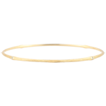 Jungle Sacrée Rigid Bracelet - diamonds - 9 carat brushed yellow gold