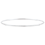 Jungle Sacrée Rigid Bracelet - diamonds - 9 carat white brushed gold