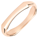 gift women Jungle Sacrée wedding ring - 4 mm - pink gold 9 carats