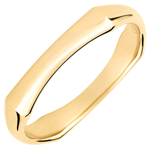 gift women Jungle Sacrée wedding ring - 4 mm - yellow gold 9 carats