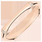 Jungle Sacrée wedding ring - Multi diamond 2 mm - pink gold 9 carats