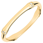 Jungle Sacrée wedding ring - Multi diamond 2 mm - yellow gold 9 carats