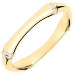 Jungle Sacrée wedding ring - Multi diamond 3 mm - yellow gold 9 carats