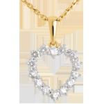Online Kauf Kettenanhänger Herzrahmen - 0.9 Karat - 14 Diamanten
