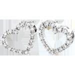 Kolczyki w kształcie serca Zadig z białego złota 9-karatowego