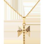 Goldschmuck Kreuz mit Facetten