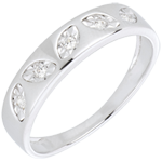 sell on line Leafy Ring - White Gold - 5 diamonds