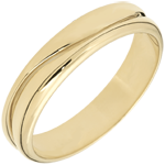 Love Ring - golden yellow wedding ring for men - 18 carat