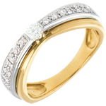 gifts women Maharajah ring yellow and white gold - 0.25 carat - 23diamonds