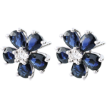 gift women Maria Flora Sapphire Earrings