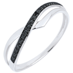 jewelry Marina Ring - White gold and black diamond