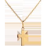 Masywny krzyżyk - złoto żółte 18-karatowe