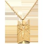 Medaglia Cristo sulla croce . Oro giallo - 18 carati