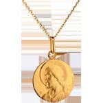 regali donne Medaglia immagine di Cristo - Oro giallo - 18 carati