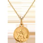 Medaille Engel Raphael mit Wolken 16mm