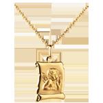 Juwelier Medaille Engel Raphael Pergamentrolle