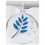 kaufen Medaille Ölzweig - Blauer Lack - 4 Diamanten