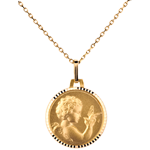 Medal of an angel holding a bird - 14mm