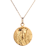 Medal of the Blessed Virgin wearing a crown - 20mm