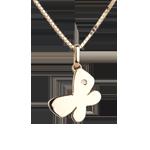 Mia piccola farfalla - modello grande - Oro giallo -18 carati - Diamante