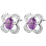sell on line Mini Flora Amethyst Earrings