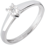 Mira Solitaire Ring - White gold - 0.25 carat