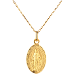Miraculous medal with floral edging