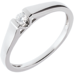 buy Modern Classic Solitaire Ring in White Gold - 0.08 carat