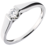 on-line buy Modern Classic Solitaire Ring in White Gold - 0.14 carat